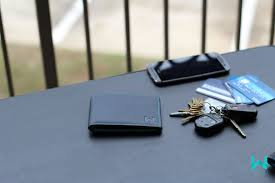 wallet and keys on desk